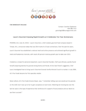 Celebrating 10 Years Press Release